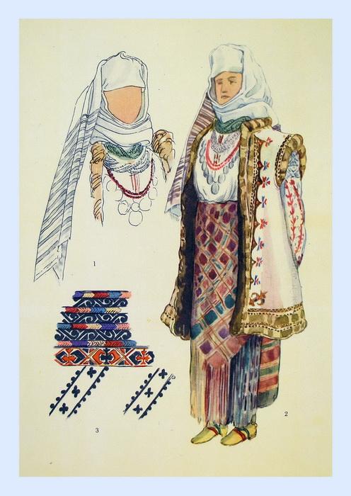 Святковий одяг жінки с суховерхів